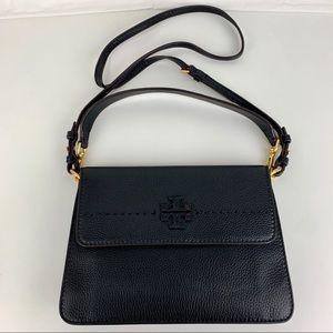 New Tory Burch McGraw Black Crossbody Bag